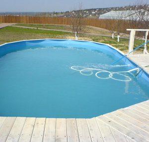 Сборный бассейн с палубой