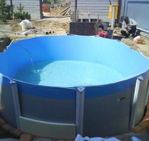 Морозоустойчивый сборный бассейн установка