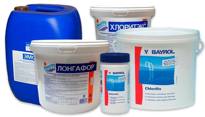 Химия для бассейна, регулировка уровня ph