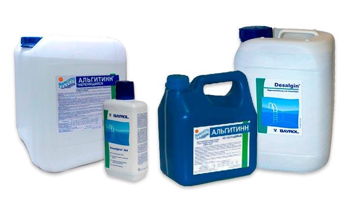 Химия для бассейна, уничтожение водорослей